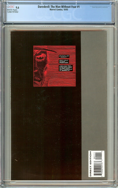 Daredevil: The Man Without Fear #1 (1993) CGC 9.6 White Pages 1266191002