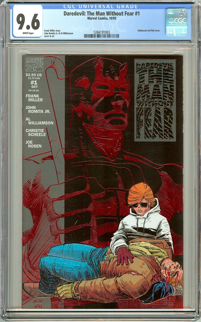 Daredevil: The Man Without Fear #1 (1993) CGC 9.6 White Pages 1266191003