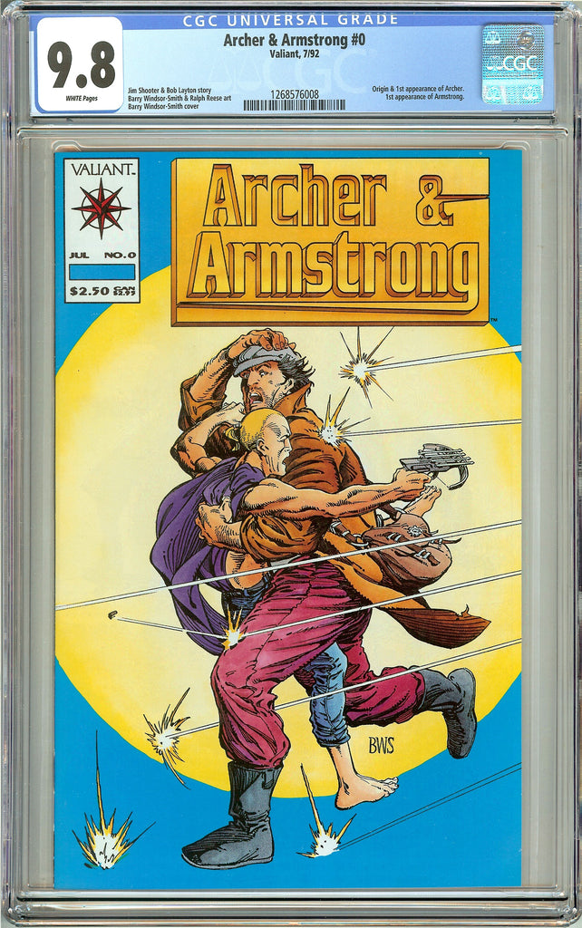 Archer & Armstrong #0 CGC 9.8 White Pages 1268576008 Valiant 1993