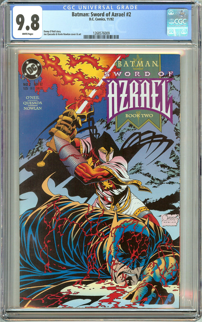 Batman: Sword of Azrael # 2 CGC 9.8 White Pages 1268576009 (1992)