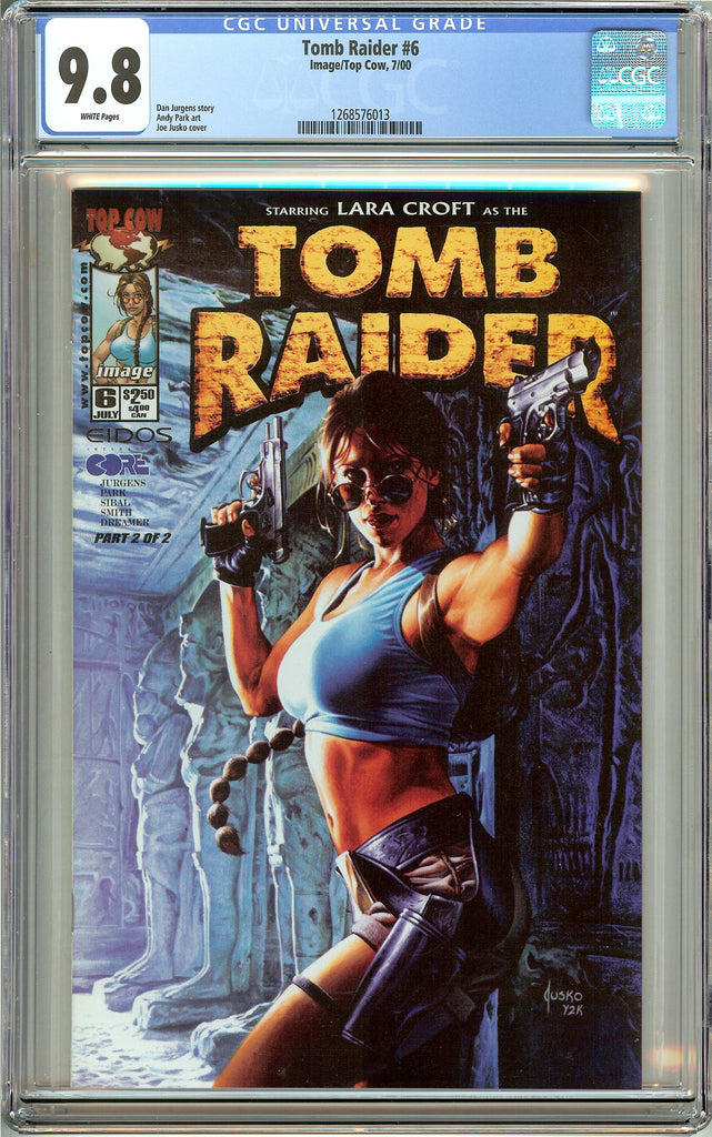 Tomb Raider #6 CGC 9.8 White Pages 1268576013 Joe Jusco Cover