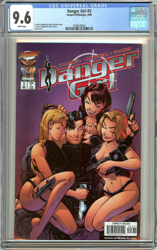 Danger Girl #3 CGC 9.6 White Pages 1268576024 1998