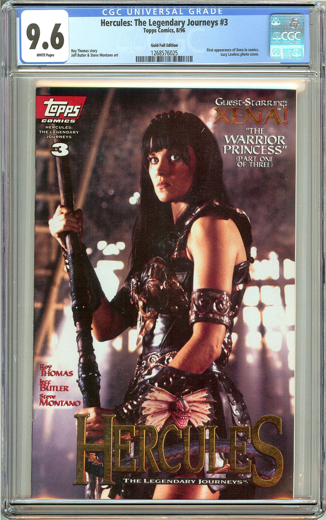 Hercules: Legendary Journeys #3 CGC 9.6 White Pages 1268576025 Gold Foil Edition