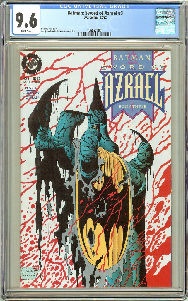 Batman: Sword of Azrael # 3 (1992) CGC 9.6 White Pages 1268577001