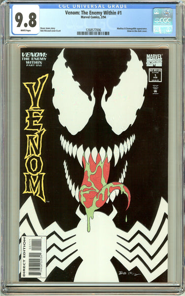 Venom The Enemy Within #1 (1994) CGC 9.8 White Pages 1268577006