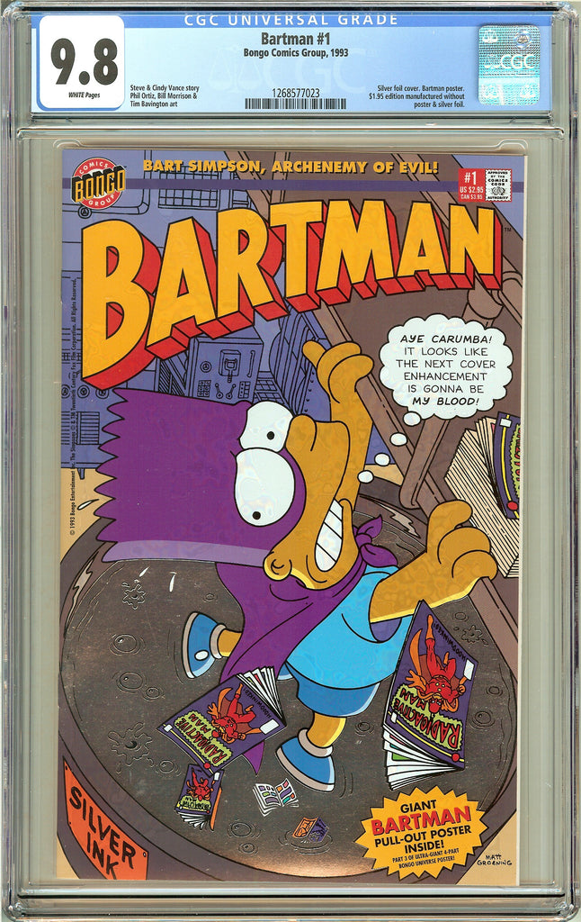 Bartman #1 (1993) CGC 9.8 White Pages 1268577023