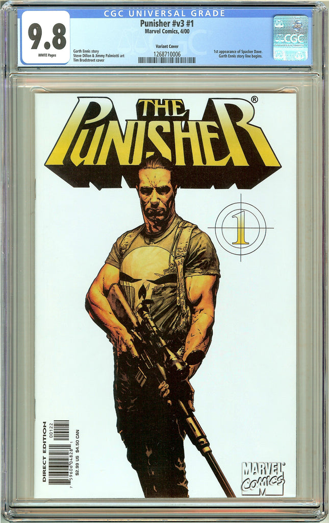 Punisher  #v3 #1 CGC 9.8 White Pages (2000) 1268710006 Variant Cover