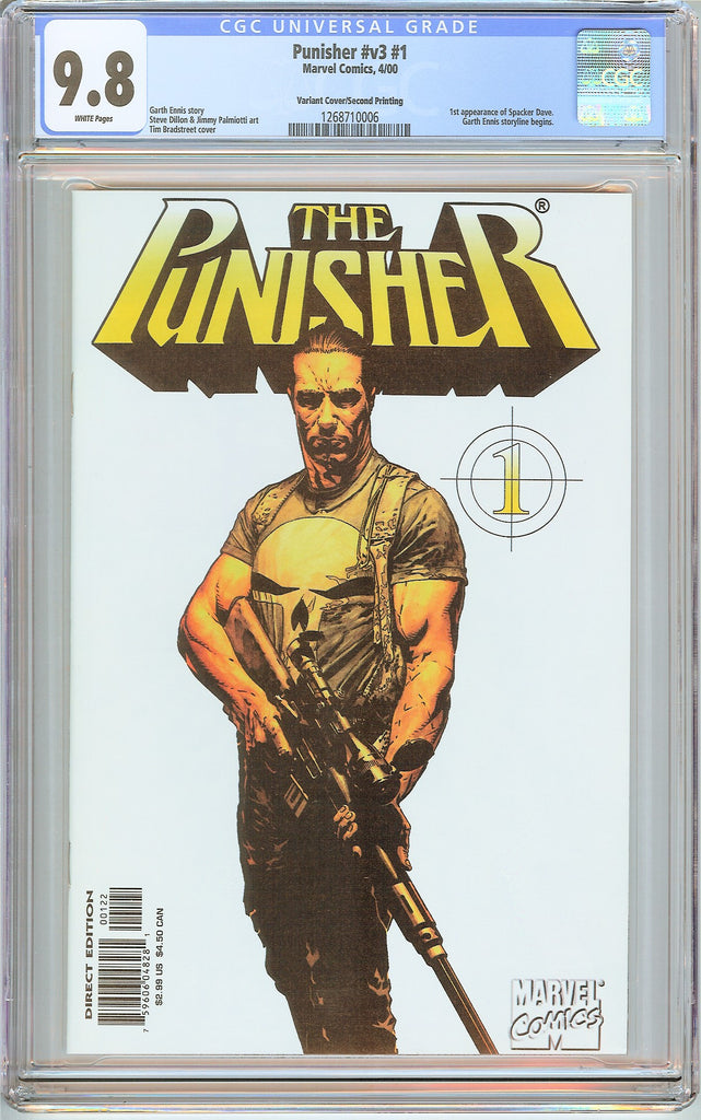 Punisher #v3 #1 CGC 9.8 White Pages (2000) 1268710006 Variant Cover 2nd print