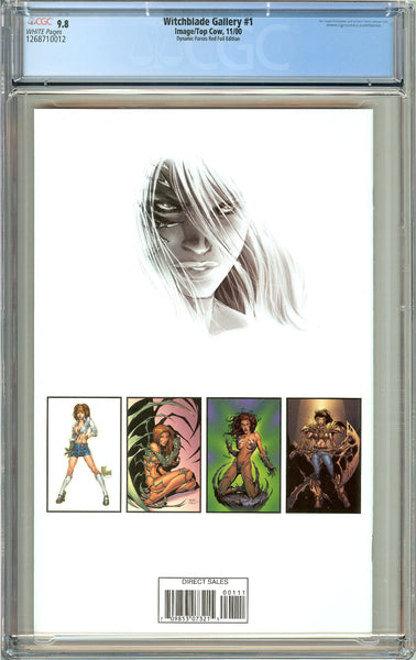 Witchblade Gallery #1 CGC 9.8 White Pages 1268710012 DF Red Foil Edition
