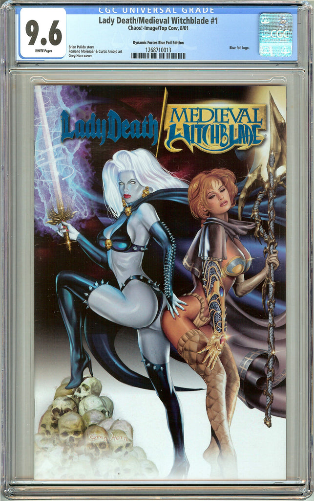 Lady Death/Medieval Witchblade #1 CGC 9.6 White Pages 1268710013 DF Blue Foil