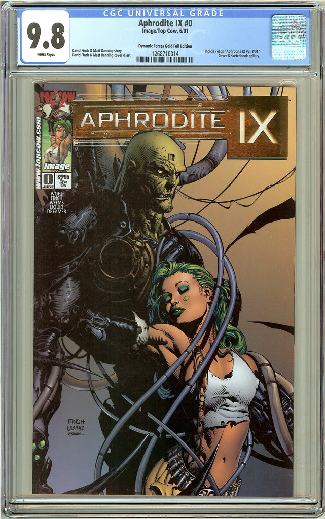 Aphrodite IX #0 CGC 9.8 White Pages 1268710014 DF Gold Foil