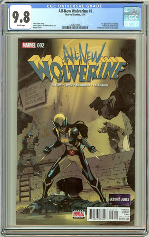 All-New Wolverine #2 CGC 9.8 White Pages 1268710017 1st Gabby