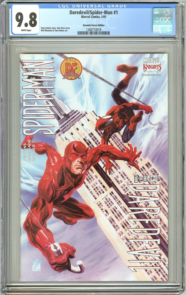 Daredevil/Spider/Man #1 CGC 9.8 White Pages 1268710018 Dynamic Forces Edition