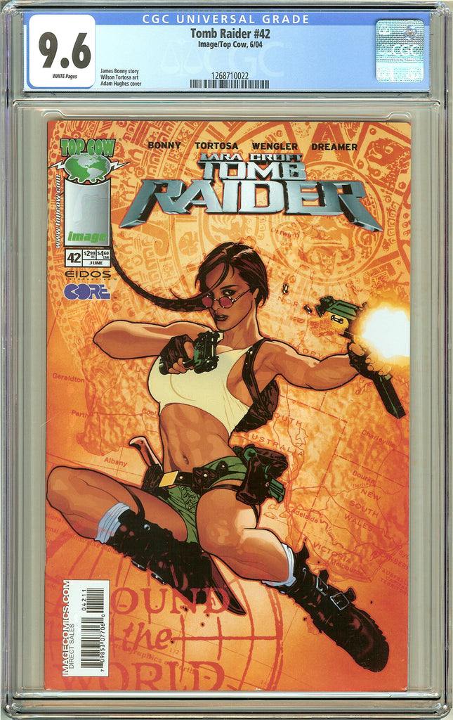Tomb Raider #42 CGC 9.6 White Pages 1268710022 Adam Hughes cover