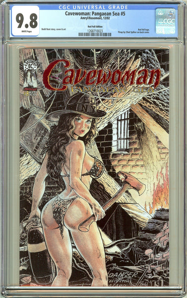 Cavewoman Pangaean Sea #5 CGC 9.8 White Pages 1268710023 Red Foil Ed