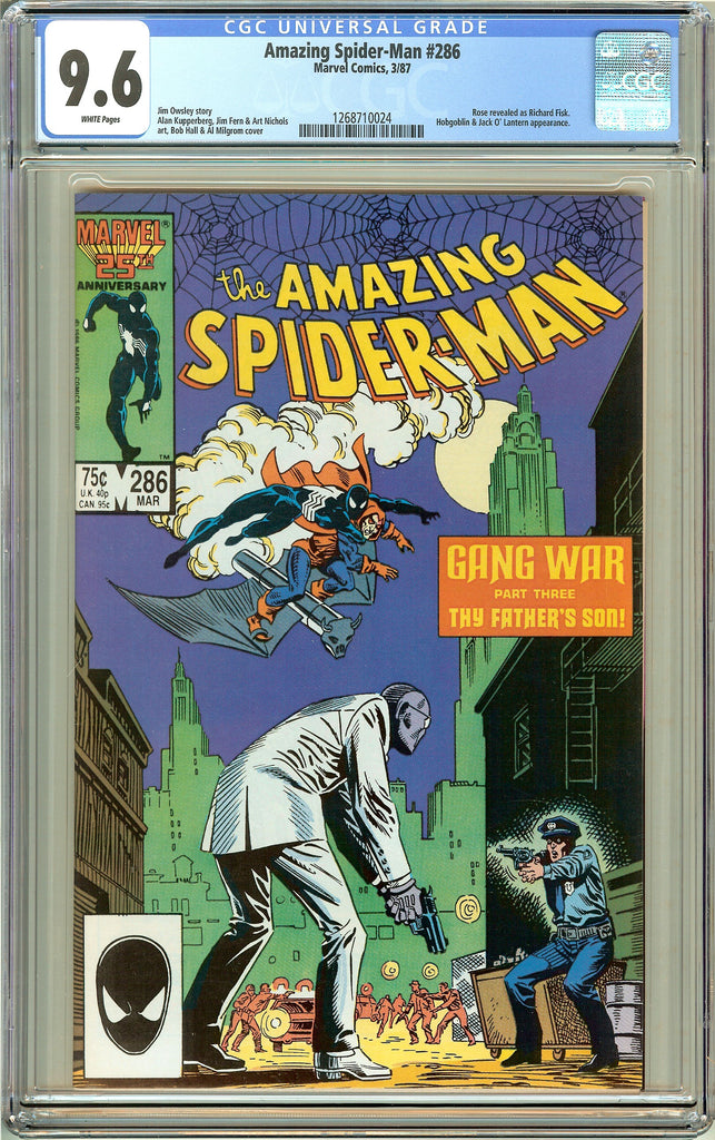 Amazing Spider-Man #286 CGC 9.6 White Pages (1987) 1268710024