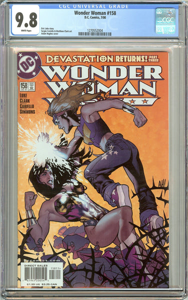 Wonder Woman #158 CGC 9.8 White Pages 1270552004 Adam Hughes cover