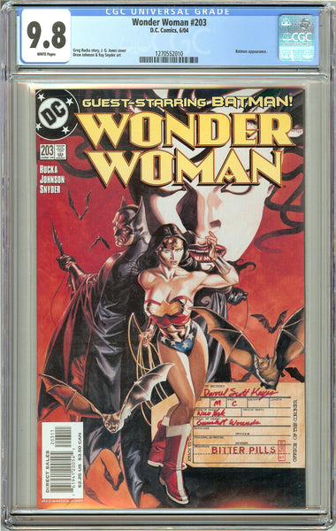 Wonder Woman #203 CGC 9.8 White Pages 1270552010