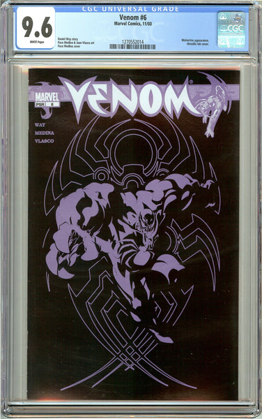 Venom #6 CGC 9.6 White Pages 1270552014