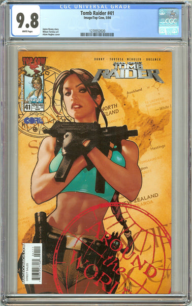 Tomb Raider #41 CGC 9.8 White Pages 1270552020 Adam Hughes cover