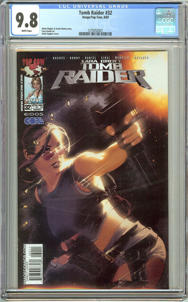 Tomb Raider #32 CGC 9.8 White Pages 1270552021 Adam Hughes cover