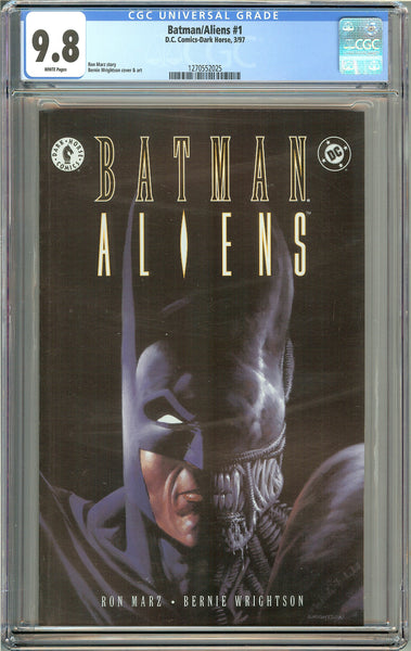 Batman/Aliens #1 CGC 9.8 White Pages 1270552025 (1997)