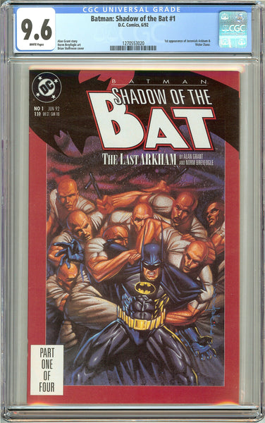 Batman: Shadow of the Bat #1 (1992) CGC 9.6 White Pages 1270553020