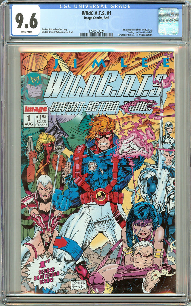 Wild C.A.T.S. #1 (1992) CGC 9.6 White Pages 1270553024
