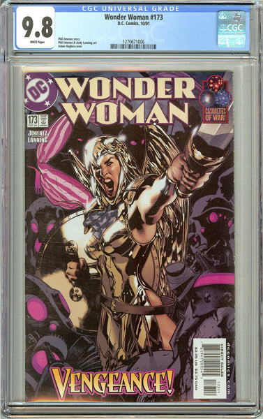 Wonder Woman #173 CGC 9.8 White Pages 1270671006 Adam Hughes cover
