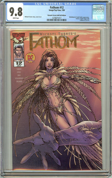 Fathom #12 CGC 9.8 White Pages 1270671017 DF Gold Foil Edition