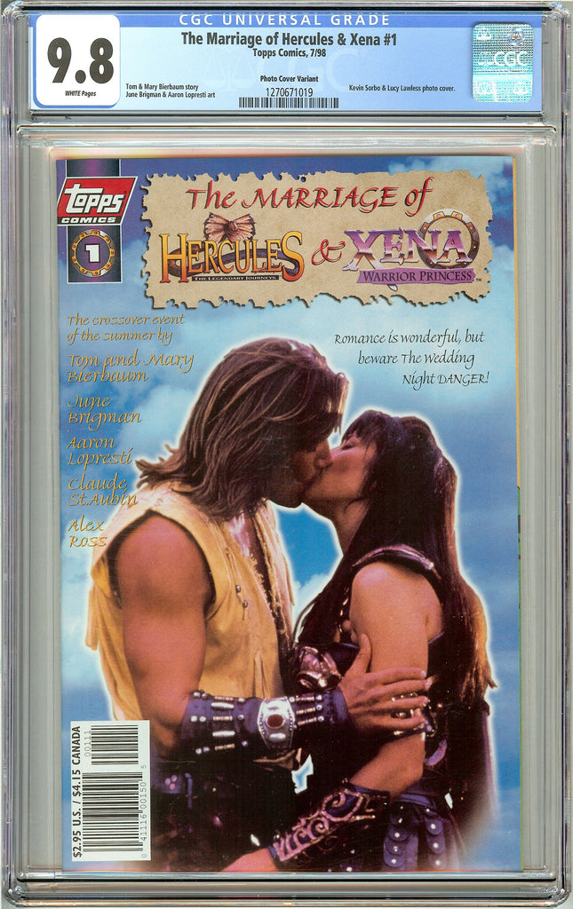 Marriage of Hercules & Xena #1 (1998) CGC 9.8 White Pages 1270671019