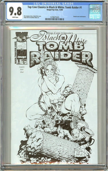 Top Cow Classics in B&W Tomb Raider #1 CGC 9.8 White Pages 1270671023