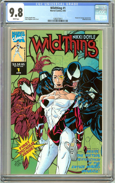 Wildthing #1 CGC 9.8 White Pages (1993) 1282573011