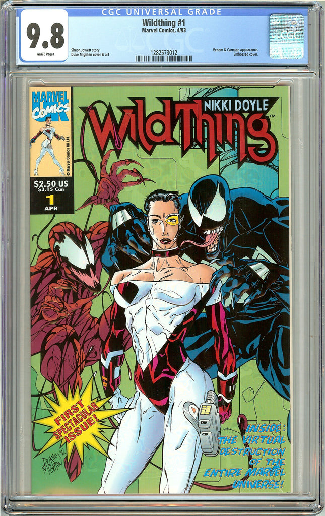 Wildthing #1 CGC 9.8 White Pages (1993) 1282573012