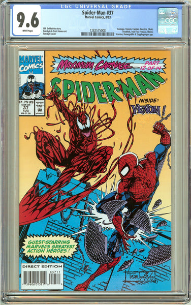 Spider-Man #37 CGC 9.6 White Pages 1282575008 Venom
