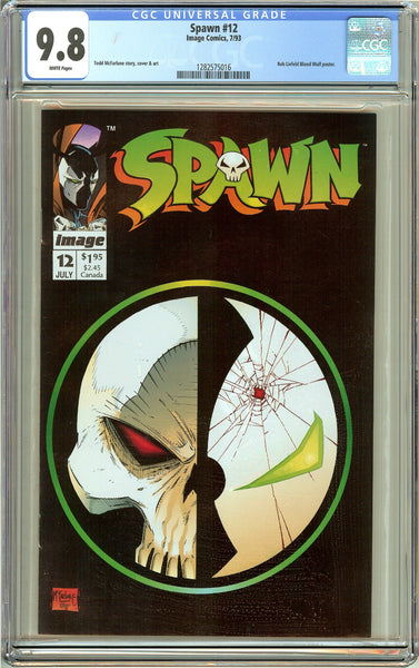 Spawn #12 CGC 9.8 White Pages (1993) 1282575016