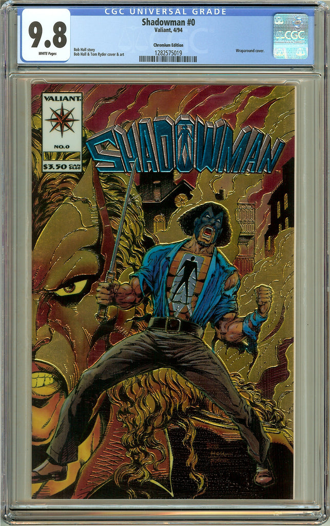 Shadowman #0 CGC 9.8 White Pages (Valiant 1994) 1282575019