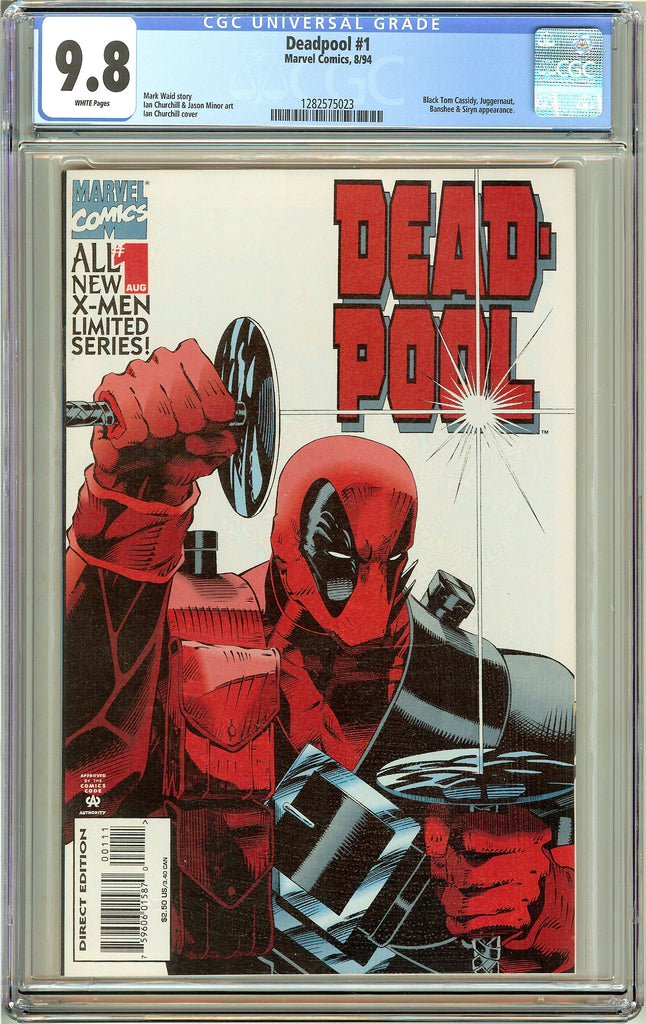 Deadpool #1 (Limited Series 1994) CGC 9.8 White Pages 1282575023