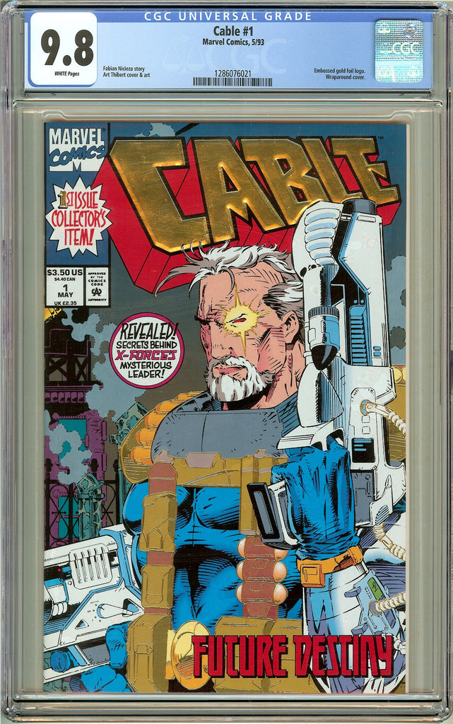 Cable #1 CGC 9.8 White Pages (1993) 1286076021
