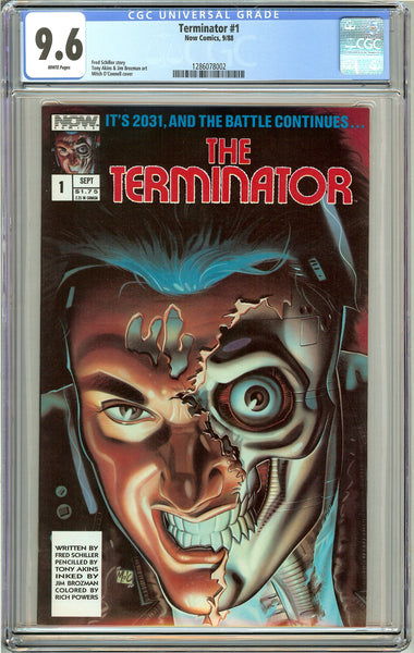 Terminator #1 CGC 9.6 White Pages (1988) 1286078002 Now Comics