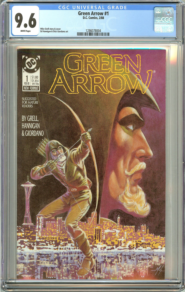 Green Arrow #1 CGC 9.6 White Pages (1988) 1286078004