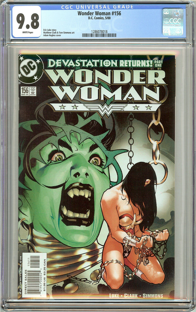 Wonder Woman #156 CGC 9.8 White Pages 1286078018 Adam Hughes cover
