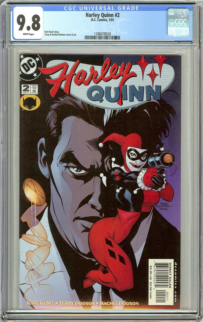 Harley Quinn #2 CGC 9.8 White Pages 1286078020 (2001)
