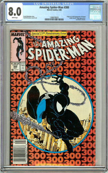 Amazing Spider-Man #300 CGC 8.0 White Pages (1988) 1286078025