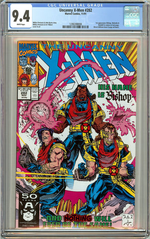 The Uncanny X-Men #282 CGC 9.4 White Pages (1991) 1290398008