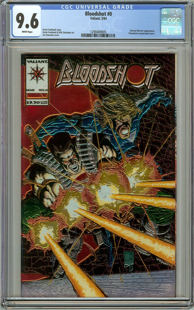 Bloodshot #0 CGC 9.6 White Pages ( Valiant 1994 ) 1290469005