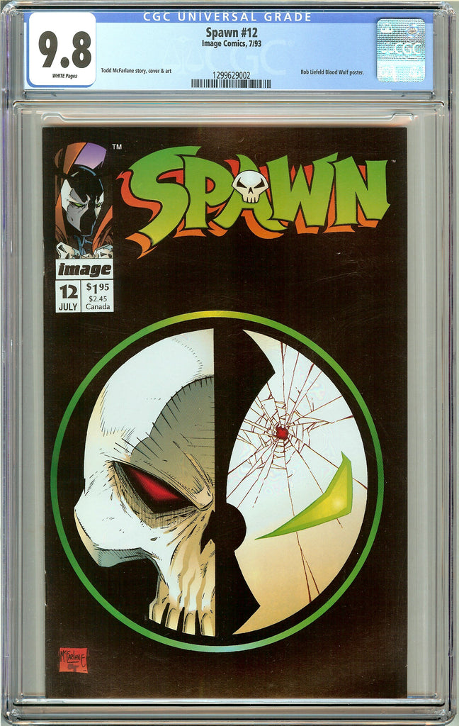 Spawn #12 CGC 9.8 White Pages (1993) 1299629002