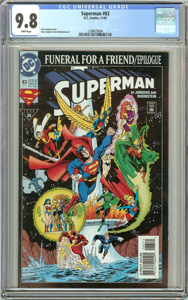 Superman #83 CGC 9.8 White Pages 1299629004