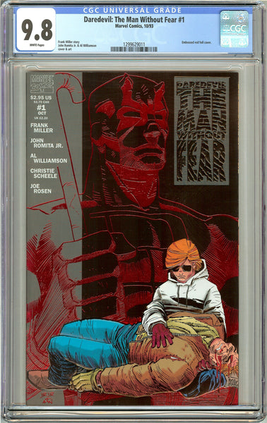 Daredevil The Man Without Fear #1 CGC 9.8 White Pages (1993) 1299629011
