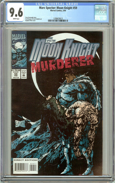 Marc Spector: Moon Knight #59 CGC 9.6 White Pages 1299629013 Stephen Platt